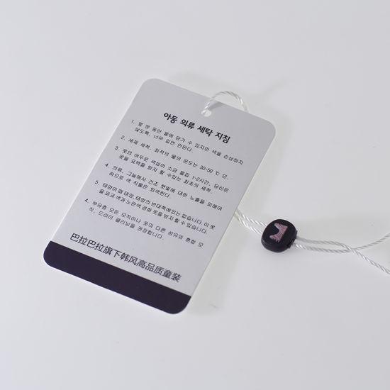 Luxury Fancy Customer New Design Garment Brand Printing Custom Label Paper Hang Price Clothing Tag