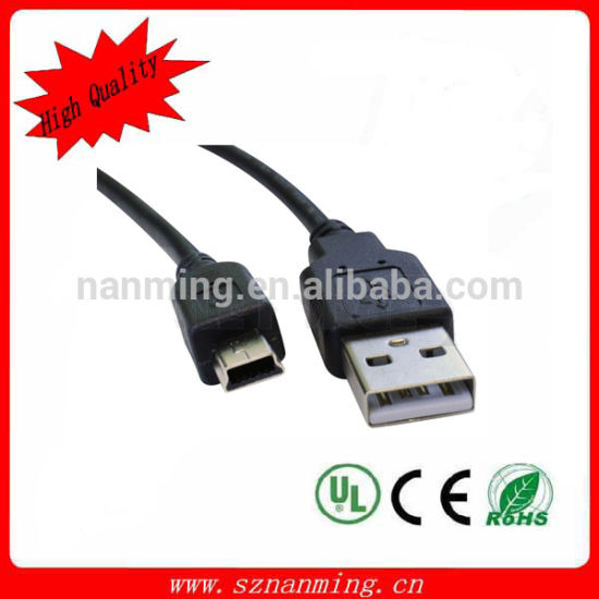 USB 2.0 Male to Mini 5pin Male Data Cable pictures & photos