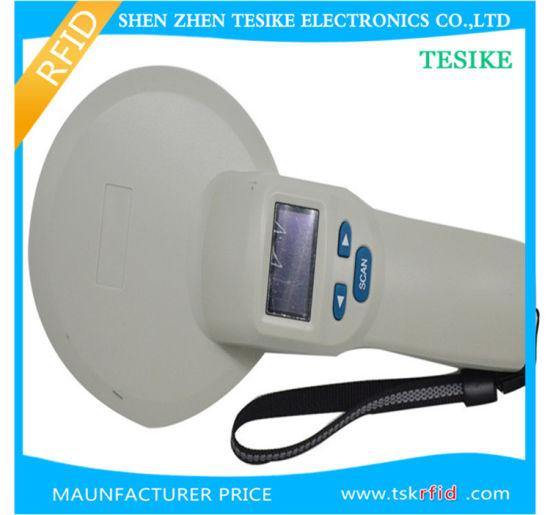 China RFID Animal Tag Reader with Data Storage 8000 ID Codes