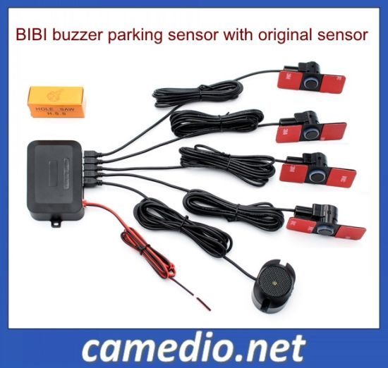 Black 4 rear car van parking reverse reversing sensor LED buzzer Car reverse parking sensors with LED Buzzer