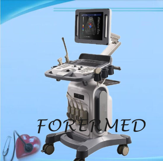 Medical 4D Color Doppler Trolley Ultrasound for Hospital