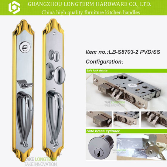 China High Quality Exterior Entrance Gate Double Door Locksets with ...