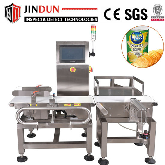 High Accuracy Automatic Weighing Scale Checkweigher for Food Processing Industry