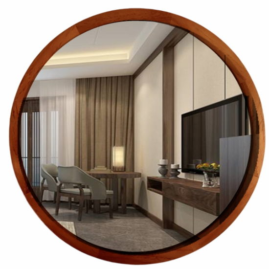 China 14 Inch Wall Mirror Wood Framed Wall Decor Home Goods China Retro Wall Decor And Wall Mirror Price
