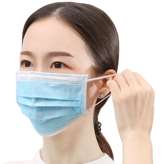 Cheap Price One Time Used Breathable Nonwoven Face Mask Food Service Production