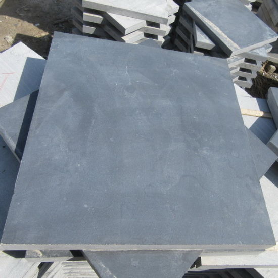 Honed Hainan Black Basalt Flooring Tile pictures & photos