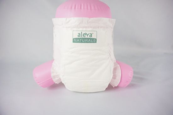 Disposable Breathable OEM Brand 100% Biodegradable Bamboo T-Shape Diaper with Elastic Ears