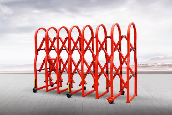 Akzonobel Powder Coated Red Manual Crowd Control Barrier
