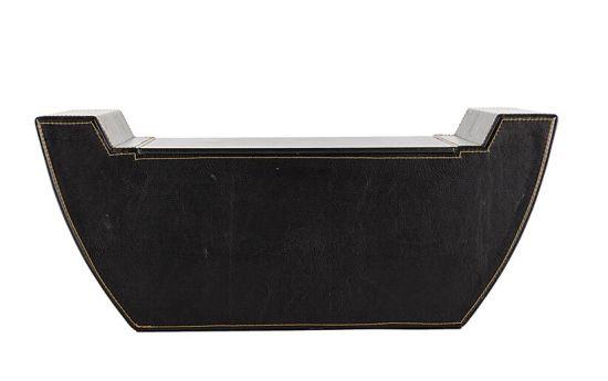 Cardboard with PU Leather Organizer Storage Box