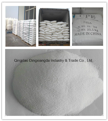 CPE Chlorinated Polyethylene Chemical Rubber Raw Material pictures & photos