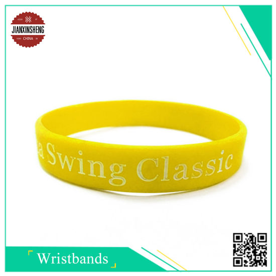 Custom Sport Rubber Silicone Bracelet RFID Embossed Silicon Wristband