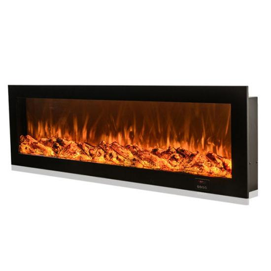Insert Artificial Fire Sandstone Remote, Fake Fireplace Heater Insert