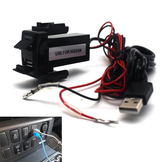 Car USB Socket Port with Audio Socket for Nissan Series pictures & photos