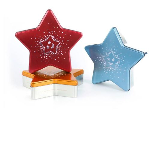 Hot Sale Star Shaped Chocolate Tin Box, Candy Tin Can pictures & photos