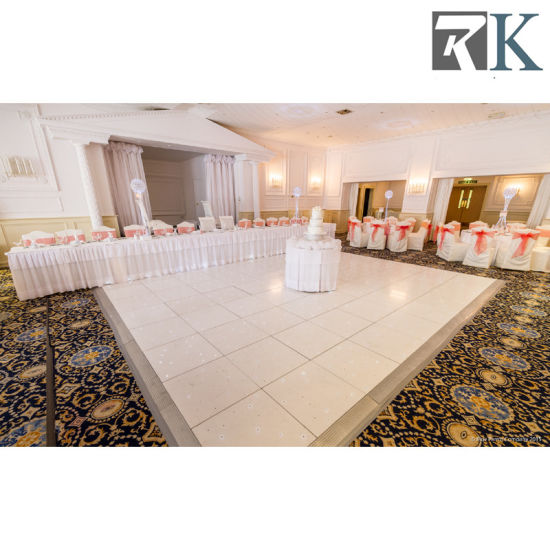 Hot! ! ! White Wooden Dance Floor for Sale and PVC Dance Floor