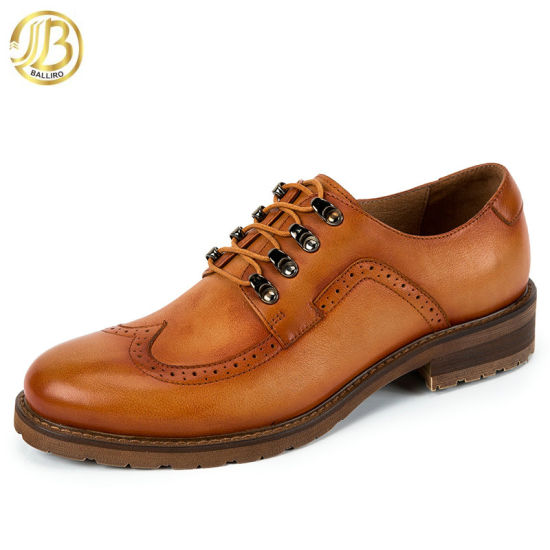 Top Quality Latest Arrival Style Leather Men Designer Blacke or Goodyear Shoes From China