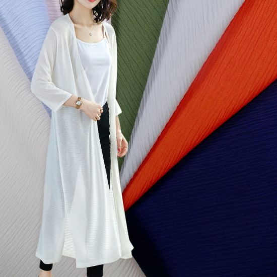 Wrinkle 100%Polyester Fabric for Lady Dress Shirt
