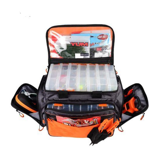 Multi-Functiona Fishing Gear Bag Fishing Tackle Bag Outdoor Sports Fish Food Storage Organizer Carrier Bag