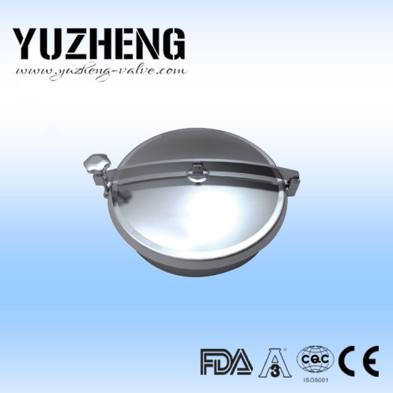 Stainless Steel Sanitary Elliptical Type Manhole Manway Cover with Pressure pictures & photos