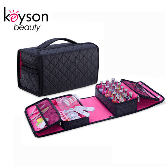 Machine Embroidery Manicure Tool and Nail Polish Cosmetic Bags