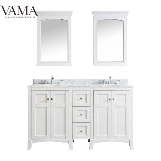 Vama 60 Inch White Color High End Bathroom Furniture for USA 730060