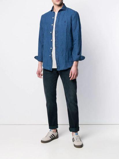 Men's Casual Denim Style Longsleeves Pure Shirt