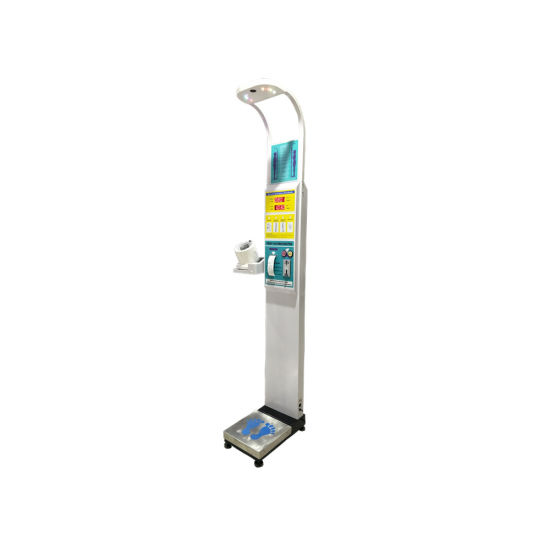 Dhm-15b Double Button Coin Height Weight BMI Machine with Blood Pressure