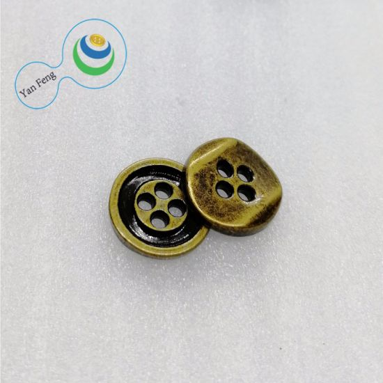 11.5mm 4 Holes Spraying Paint/Polyester Resin Alloy Sewing Button Garment Accessories
