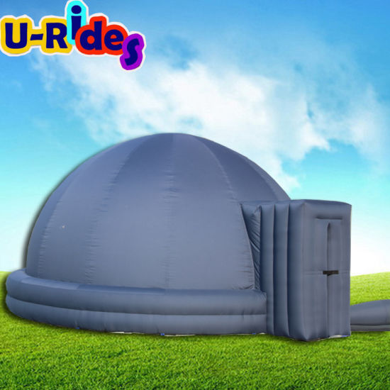 6m Black Inflatable Planetarium project Dome Tent for education 3D cinema