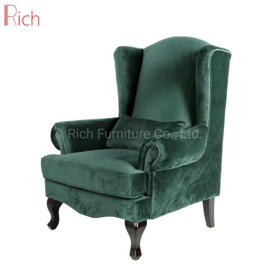 Incredible European Style Living Room Furniture Green Velvet High Back Sofa Dailytribune Chair Design For Home Dailytribuneorg