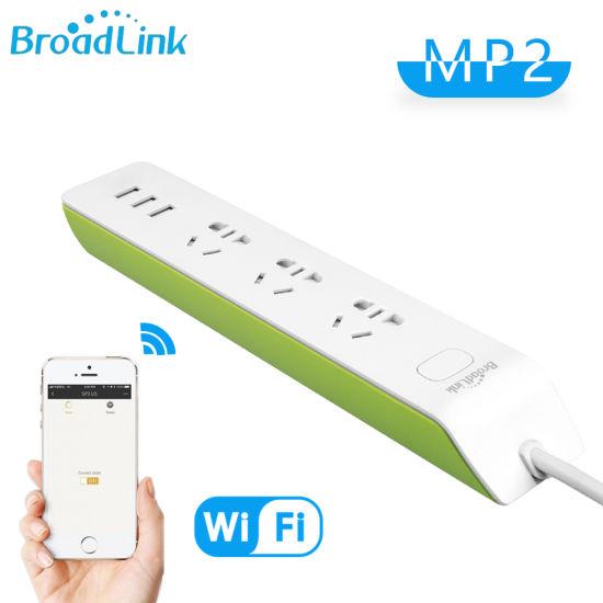 Broadlink Green MP2 WiFi Smart Socket Power Strip 3 USB Plug Au Adapter APP  Voice Control Remote Control Support Fast Charging