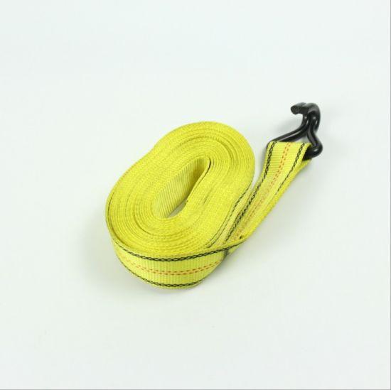 Polyester Ratchet Lashing Cargo Tie Down Webbing Strap