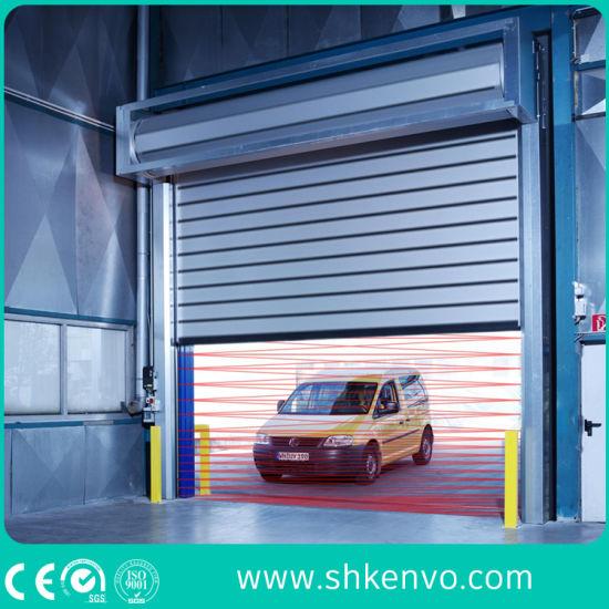 Industrial Aluminum Alloy High Speed Overhead Metal Spiral Door with Sensors