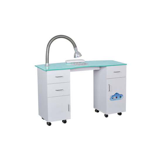 China Modern White Nail Salon Manicure Table For Sale