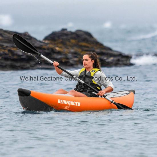 Weihai Factory Inflatable Kayak Drop Stitch Floor Reinforced PVC Tandem 2 3 Person