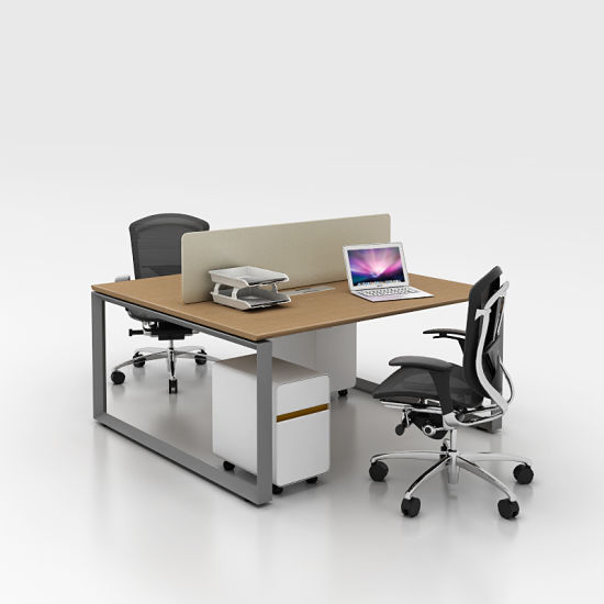 China Simple Style Standard Dimensions Wonderful Face To Face 2 Person Office Desk China Office Desk Computer Desk