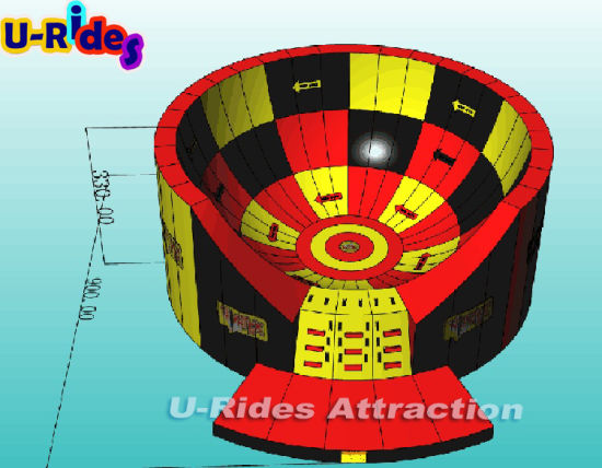 2019 U-Rides latest inflatable sport game interactive inflatable vortex game running wild for event