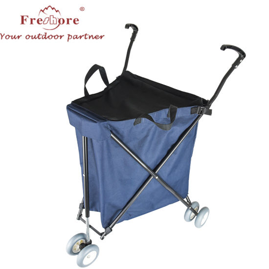 Best Popular Selling Supermarket Shopping Push Cart Metal Folding Grocery Shopping Cart Trolley with Toy Car for Sale