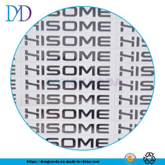 Custom Nickel Embossed Metal Logo Sticker, Self-Adhesive
