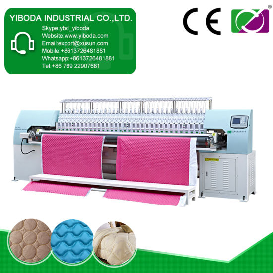 Ybd333 Computerized Quilting Embroidery Quilting Machine for Leather Car Cushion