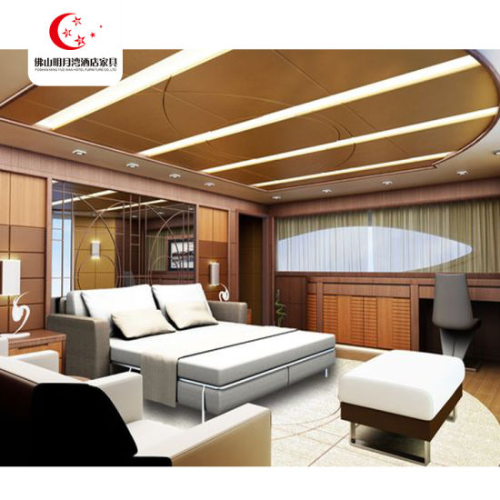 Custom Luxury Modern New Design Saudi Arabia 5 Star Wooden Hotel Bedroom Furniture Set