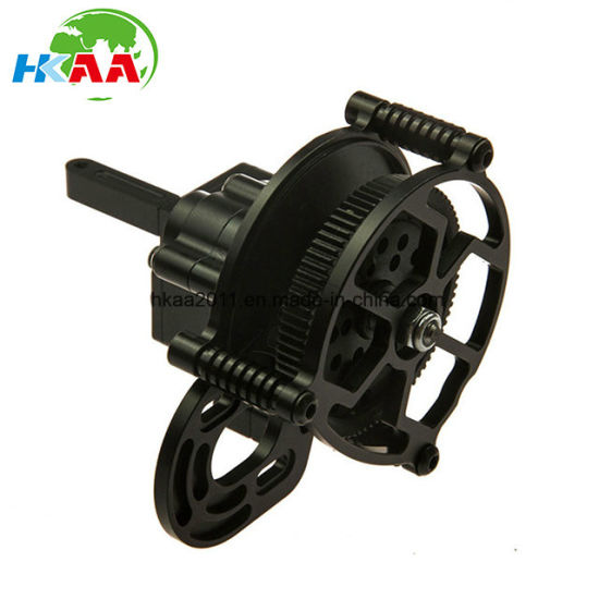 CNC Machining Custom Black Aluminum Transmission Case/Gear Box with Steel Gears pictures & photos
