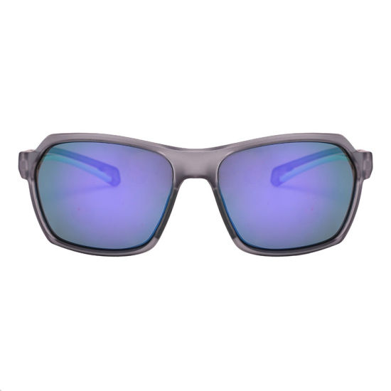 2019 Fashionable Wholesale Double Injection Sports Sunglasses with Crystal Grey