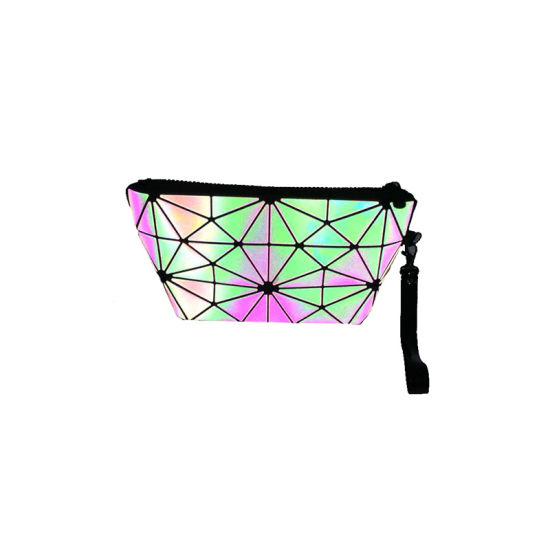2019 New Style Luminous Geometric Rhomboids Makeup Bags Zipper Ladies Cosmetic Bag