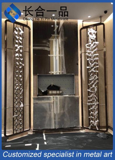 Factory Manufacture Customized Interior Stainless Steel Decorative Screen/Curtain Wall