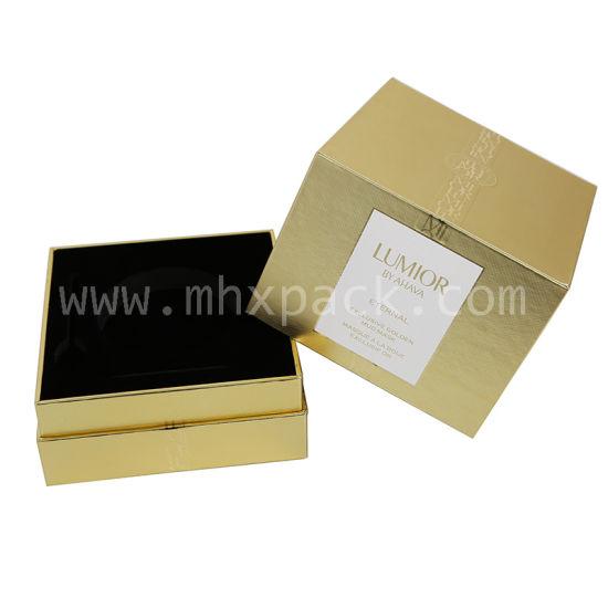 Luxury Gold Silver Paper Packaging Rigid Perfume Box