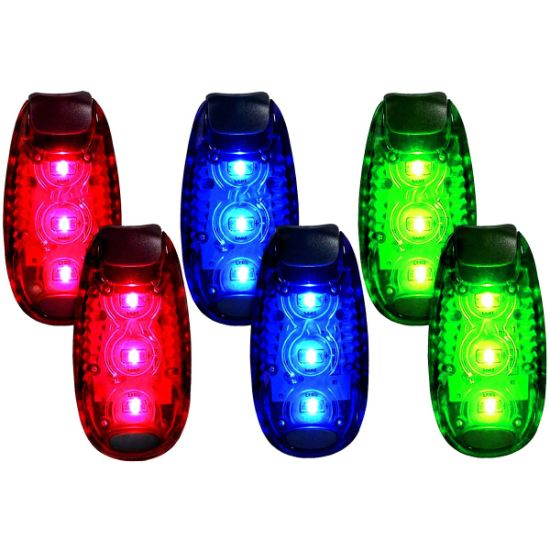 LED Safety Light Clip On Reflective Flashing Running Bicycle Cycling Tail Light