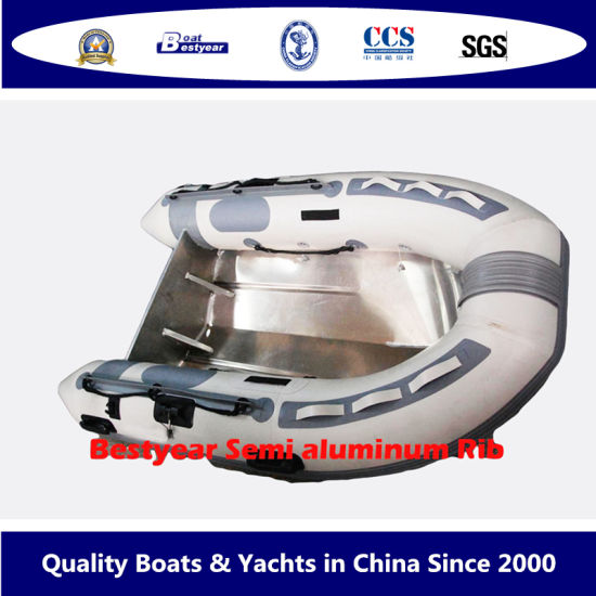 Bestyear Semi Aluminum Alloy Hull 2.5m Rib Boat with Tube pictures & photos