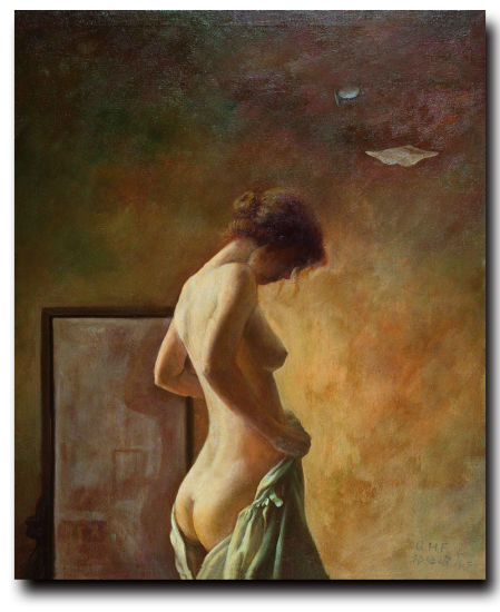 Wholesale Naked Woman On Canva For Handmade Nude Female Body Art Oil Painting