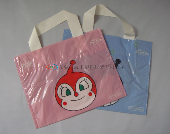 Soft Loop Handle Poly Bag/Plastic Packing Bag/Shopping Bag
